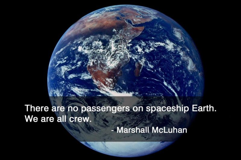 No passengers on spaceship Earth